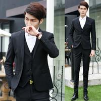 army vest costume - New trendy Wedding Suits Slim Tuxedo Brand Fashion Formal Costumes Business Dress Suits Blazer Jacket Vest Pants
