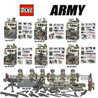 band of brothers - Doll D162 Band of Brothers Lieutenant Guard Heavy Machine Gun Minifigures Building Block Minifigure Toys Compatible Any Blocks