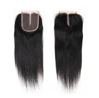 Wholesale Brazilian Human Hair Lace Closure With Baby Hair Free Middle Three Part Silky Straight Top Lace Closure Pieces Glueless