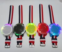 Wholesale 2016 new creative watches wireless Bluetooth audio LED audio card player TF lights flashing lights controllable DHL