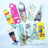 Wholesale 2015 NEW Creative children s cartoon modelling paper bookmark Lovely note pad paging Free DHL