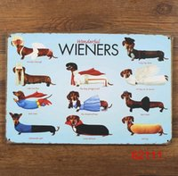 Wholesale WIENERS Tin Sign Bar pub home Wall Decor Retro Metal Art Poster