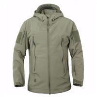 Wholesale Outdoor Military Tactical Jacket Men Shark Skin Softshell Jacket Waterproof Windproof Hiking Jacket Camouflage Clothing K0030