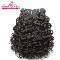 remy hair - Water Wave Hair Extension Virgin Brazilian Hair Weave Weft Big Curly Unprocessed Remy Human Hair Bundles Natural Color Dyeable