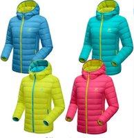 Wholesale HOT New Winter Women White Duck Down Jacket Women s Hooded Ultra Light Down Jackets Warm Winter Coat Parkas for Female Free shipp