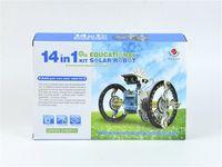 Wholesale 14 IN Solar power Energy Robot Solar toys Solar DIY Educational Toys Assembled Toy Solar Energy Kit DHL