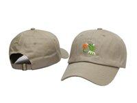2016 nuevos sombreros de béisbol del casquillo de la rana de la manera Los casquillos del Snapback para los hombres y las mujeres se divierten los gorras de los huesos del sombrero de la marca de fábrica del strapback del hip-