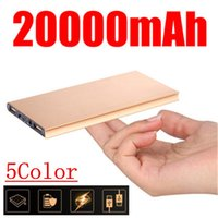 Wholesale 20000mah Polymer Power Bank Mobile Portable Backup External Battery Ultra Thin Slim Book Battery Emergency Powerbank For iPhone S For sam