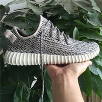 Wholesale YEEZY Boost Turtle Dove Grey Pink Gold TAN Grey Black Sneakers casual Shoes unsex with original box
