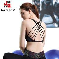 beauty super l - dry sports bra steel ring free yoga female underwear high end printing super beauty behind the Cross stars stars anti static