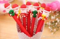 Wholesale Santa Claus Christmas gift clay ballpoint pen pupils prizes creative stationery gift children