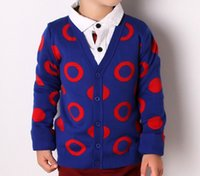 Wholesale new Christmas kids clothes boys sweaters v neck circle t t t years reindeer sweaters red dark blue