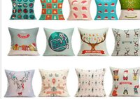 Wholesale SP Mosunx Business Hot Selling Christmas Cartoon Decoration Festival Pillow Cushion Cover