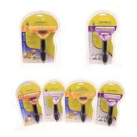 Wholesale NEW Pet Brush for Dog and Cat deShedding Tool Grooming Yellow Long Hair Short Hair Expert deshedding Edge Designer