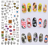Wholesale Women s Fashion Halloween Christmas DIY Watermark Stickers Nail Art Stickers Decals Wraps Tips Style For Choose