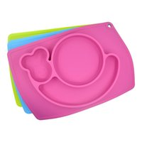 Wholesale Baby Placemat Plate Tray Suction patterns Silicone Placemats for kids cm Placemat for restaurant easy to clean silicone mat