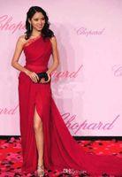 art deco festival - W141 th Cannes Film Festival Zilin Zhang Side Slit One Shoulder Lace Celebrity Dresses Red Carpet Formal Evening Gown