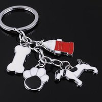 beauty metal plates - Hot Sale Silver Plated Pet Key Chain France Dog to Send a Friend s Birthday Gifts Fashion Beauty Cute Dog DHM033