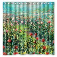 bath garden design - Rose Rose Garden Design Shower Curtain Size x cm Custom Waterproof Polyester Fabric Bath Shower Curtains
