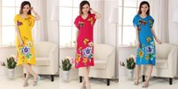 Wholesale Summer Spring cotton nightgown china dress traditional Cheongsam Dress ladies pajamas cotton Ladies Sleepwear