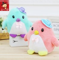 anime animal hats - 18CM Freeze Penguin With Knit Hat Plush Toys Stuffed animals Colors Hat Plush
