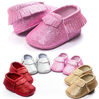baby cribs girls - 2016 Tassels Brand Baby Shoes Leather Moccasins Newborn Boys Girls Shoes Soft Sole Sequins Infants Crib Shoes Sneakers First Walkers