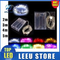 Wholesale 5pcs led Operated Fairy Lights M LEDs M LEDs M LEDs Battery LED Copper Wire Fairy String Lights Christmas Home Party