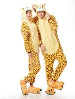 adult leopard onesie - Hallowmas Hoodies Adults Leopard Tiger Onesie Women Anime Cartoon Cosplay Costumes Party Dress Sleepwear vhn