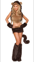 adult monkey - sexy animal halloween costumes with Hot Sale Women s Lovely Sexy Monkey Costume S1132 Sexy Costumes For Adults