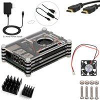 adapter fan - 5 in kit for Raspberry Pi V mA Power Adapter Heatsinks Fan Cable Case