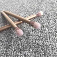 application brushes - double bruwh Eyelid Shadow Brush Natural Bristles Wood Handle Tapered Lids Application Lightly Tap Cheap Makeup Brushes