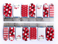 Wholesale European fashion nails polish straps glue nail art cat small and pure and manicure fresh flower nail stickers QJ1009