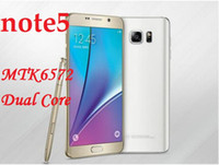 Wholesale DHL freeshipping Mobile Phone note5 MTK6572 Dual Core MB RAM GB ROM Show G GB Android OS