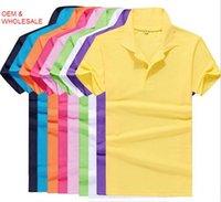 Wholesale 2016 New summer style lapel collar short sleeved T shirt men s fashion casual T shirt Shirt Men M XXXL
