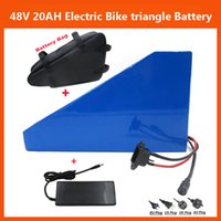 Rechargeable battery triangle - Rechargeable V W Triangle Electric Bike lithium ion Battery V AH with A BMS V A charger and battery Bag