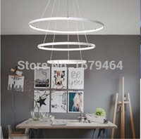 Wholesale LED W Pendant Light Modern Design LED Rings V V Special for office Showroom Living Room