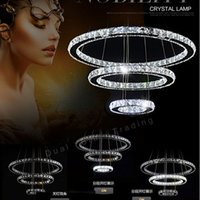 Wholesale Stunning Led Crystal Chandeliers Light Fixtures With Remote Control cm cm cm Guaranteed