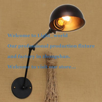 Wholesale American RH retro Creative personality abroad long arm industrial Wall adornment Wall lamp Lighting double section