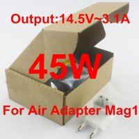 Wholesale high quality W L tIP Mag1 V A US EU UK AU Plug Power laptop Adapter charger for MacBook MAC Air A1369 A1244