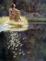 bev doolittle - Original US High tech HD Print Oil Painting Art On Canvas Bev Doolittle Let My Spirit Soar x32inch Unframed