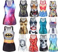 adult tank tops - Sexy Womens D Digital Cartoon Print Tank Top Blouse Gothic Punk Clubwear Dress H210268