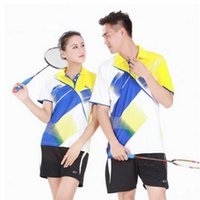 Wholesale Table Tennis Clothes New Badminton Clothing Suit Couple Quick Drying Summer Tennis Clothes Tennis Sports Shirt