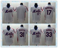 Wholesale Fast Men New York Mets Baseball Jersey Keith Hernandez Mike Piazza Matt Harvey White stripe Throwback Stitched Jerseys