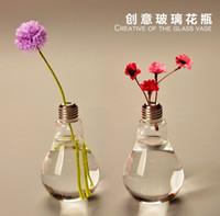 wooden planter - Crystal Glass Vaso cm Lamp Light Bulb Tabletop Flower Vase Dinner Planter Terrarium Container Pots Wedding Decor Terrarium