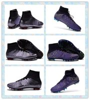 best synthetic lawn - High Quality New Elastico Superfly pro ACC AG Best Dark Grey Purple Football futbol boots soccer shoes mens Cheap Training Sneakers boot