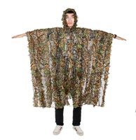 Wholesale New Arrival Tactical Military Outdoor Bionic Camouflage Cloak Free Size Polyester For Hunting Sports CL34