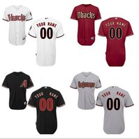 arizona high - Personalized Men s Arizona Diamondbacks Custom Jerseys High Quality Stitched Any Name and Number white grey Red Black jerseys