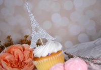 babies decorative accessory - Glitter Paris Eiffel Tower Cupcake Toppers birthday wedding engagement bridal baby shower Bachelor party foodpicks