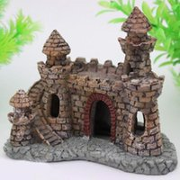 Wholesale Super Deal Cartoon resin castle aquariums castle decoration aquarium fish tank tower XT