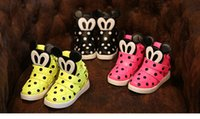 baby girl massage - Boys Girls Shoes Cartoon Sneakers Kids Mickey Dot Shoes Autumn Children Casual Athletic Shoes Baby Flat Shoes
